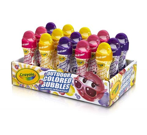 CRAYOLA OUTDOOR WASHABLE COLORED BUBBLES ASST IN DISPLAY