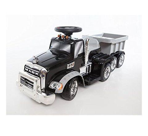 Beyond Infinity Mack Truck W/Trailer Ride On-Black 6V