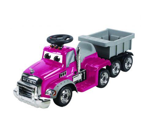 Beyond Infinity Mack Truck W/Trailer Ride On-Pink 6V