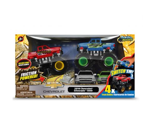 Monster Maniacs Off Road Chevy Silverado Gift Set With Ramp