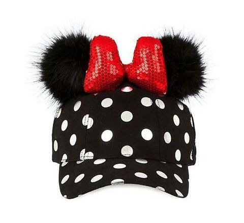 DISNEY MINNIE POLKADOT ADULT CAP EARS AND BOW