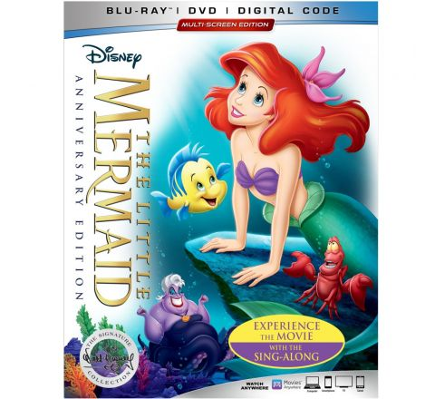 DISNEY LITTLE MERMAID 30TH ANNIVERSARY BLU-RAY DVD
