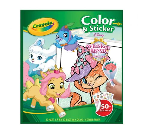 Crayola Whisker Haven Color N' Sticker Book