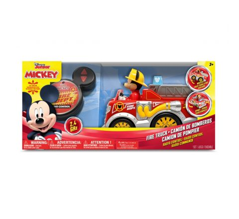 """DISNEY 9"""" MICKEY MOUSE FIRE TRUCK RC VEHICLE"""