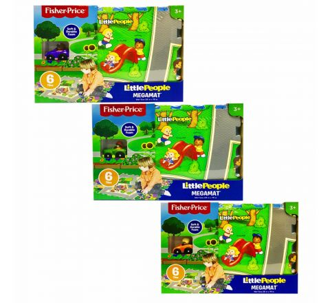 TCG Fisher Price 6Pc Tile Mega Floor Mat With Vehicle