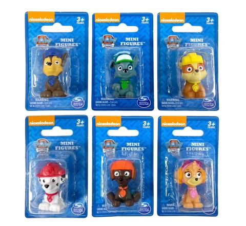 Spin Master Paw Patrol PVC Figures With Blister Card Assorted