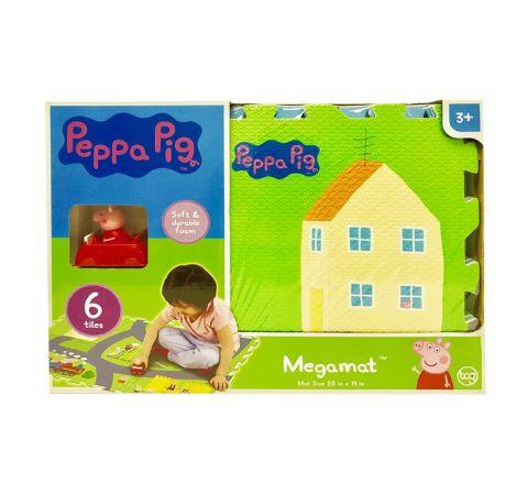 Tcg Peppa Pig 6Pc Tile Mega Floor Mat With Vehicle
