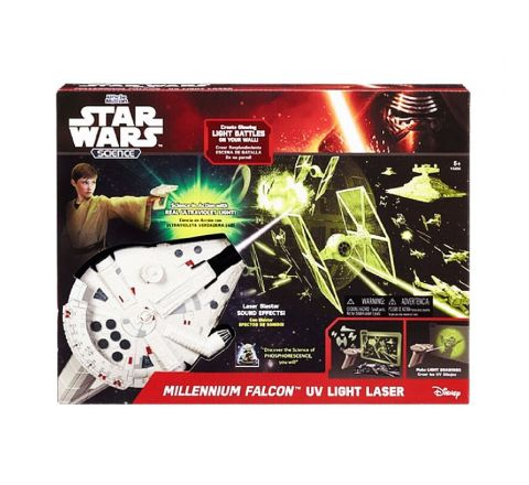 UNCLE MILTON STAR WARS MILLENNIUM FALCON UV LASER LIGHT